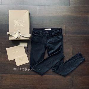 BURBERRY BRIT wax wet effect jeans